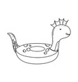 dinosaur float child icon vector image