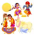 diwali holiday celebration and bhai dooj rite vector image