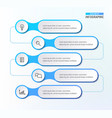 five steps workflow infograph chart diagram vector image vector image