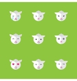 flat sheep emotions icon set vector image vector image