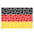 germany flag mosaic of cloud icons vector image