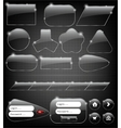 Glass Web Elements vector image