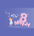happy 8 march womens day paper cut card vector image vector image