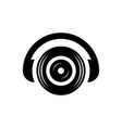 headphone dj sound icon logo vector image vector image