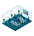isometric waiting room for international airport vector image vector image