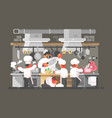 kitchen of restaurant vector image vector image