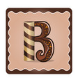 letter b candies vector image vector image
