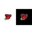logo a gym rat vector image