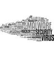 malware word cloud concept vector image vector image