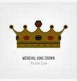 medieval king crown vector image vector image