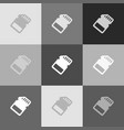 memory card sign grayscale version of vector image vector image