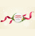 merry christmas ribbon label banners design vector image vector image
