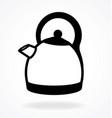 modern kettle outline vector image