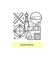 Modern thin line icons of geometry vector image