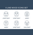 mood icons vector image vector image
