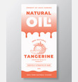 natural oil abstract packaging design or vector image vector image