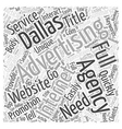 Need Full Service Advertising Agency Dallas Word vector image vector image