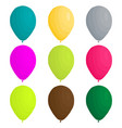 on theme big colored set different types vector image vector image