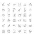 outline cleaning icon