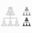 patients nurse hierarchy mesh 2d model and vector image vector image