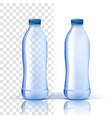 plastic bottle mockup purity bluer vector image vector image
