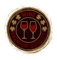 premium wine logo design vector image vector image