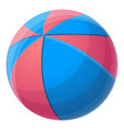 red blue beach ball icon cartoon style vector image