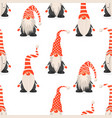seamless pattern with scandinavian vector image