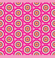 seamless pink pattern background with stylized vector image vector image