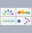 set contemporary infographic designs concepts vector image