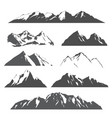 set mountains on white vector image vector image