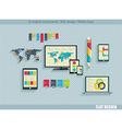 Set of flat design icons vector image vector image