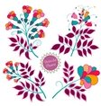 Set of Multicolored Flowers vector image vector image