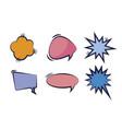 set of speech bubbles pop art style vector image vector image