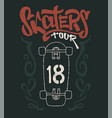 skateboard graphic t-shirt design vector image vector image