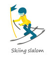 skiing slalom icon isometric style vector image vector image
