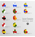 soccer world champion set vector image vector image