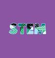 stem concept word art vector image