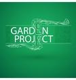 Stylized branch arranged in words Garden project
