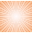 Sunny Orange and White Background with Retro Rays vector image vector image