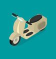 transport scooter 3d isometric view on a blue vector image