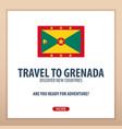 travel to grenada discover and explore new vector image vector image
