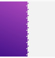 two grey and purple piece puzzle jigsaw vector image vector image