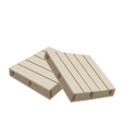 Two Wood Pallets on A White Background vector image vector image