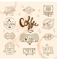 Vintage retro coffee labels vector image vector image