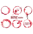 Watercolor wine stains icons vector image
