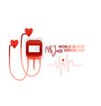 world blood donor day banner with red bloody vector image vector image