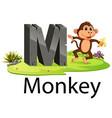 zoo animal alphabet m for monkey vector image vector image