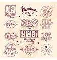 Premium retro quality emblem vector image
