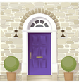 entrance of house vector image